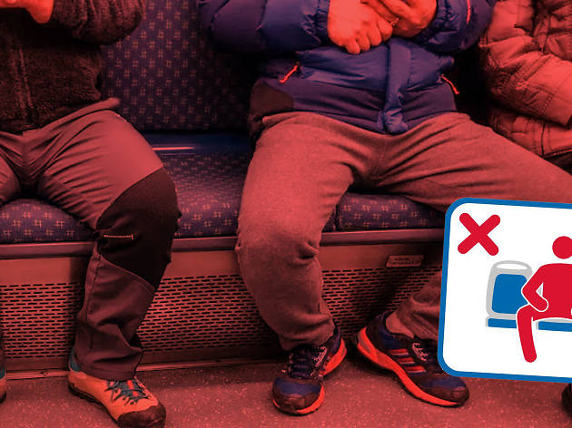 Public transport manspreading