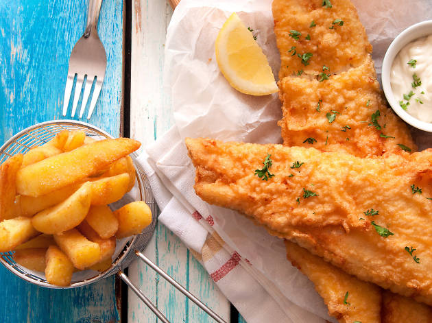 Fish and chips Shutterstock image for Food and Sake advertorial