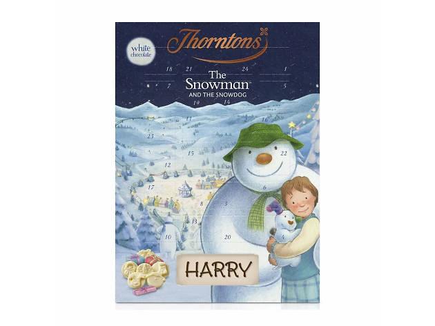 Best advent calendars: Thorntons White Chocolate Snowman, 2018