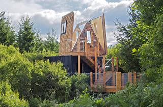 Sky Den Treehouse at Calvert Trust, Kielder, Northumberland,