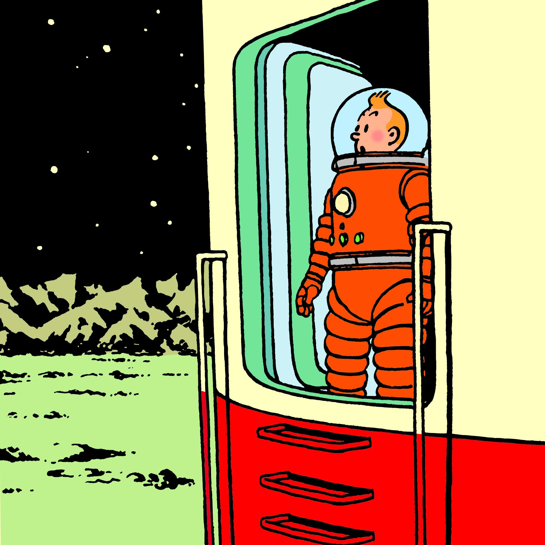 Tintín i la Lluna, 50 anys de la primera missió tripulada
