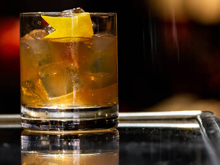 Sip on a Woodford Reserve Old Fashioned at Whisky and Alement