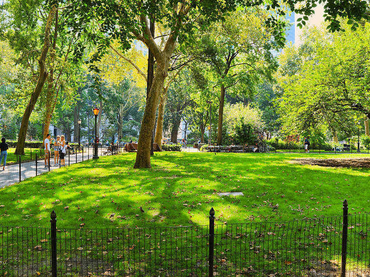 Manhattan's liveliest greenspace, Madison Square Park