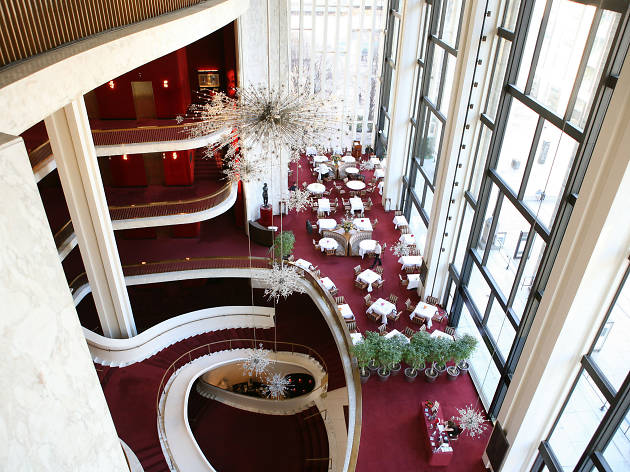 The lobby of the Metropolitan Opera House in New York City.Photo: Marty Sohl/Metropolitan Opera