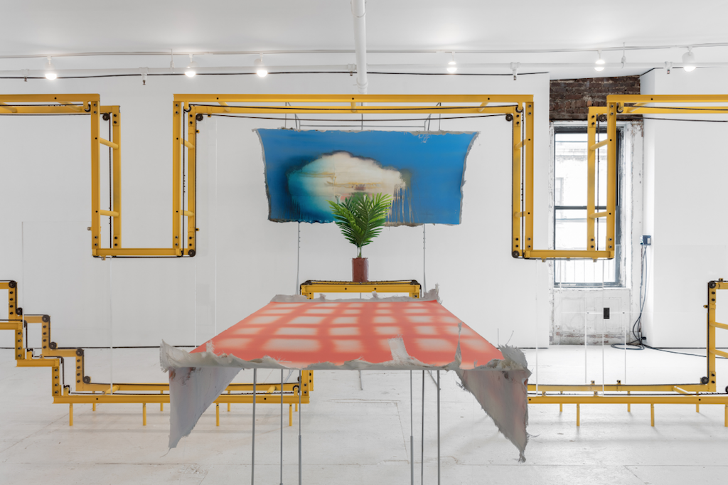Installation view, Dorian Gaudin, The coffee cup Spring, 2018