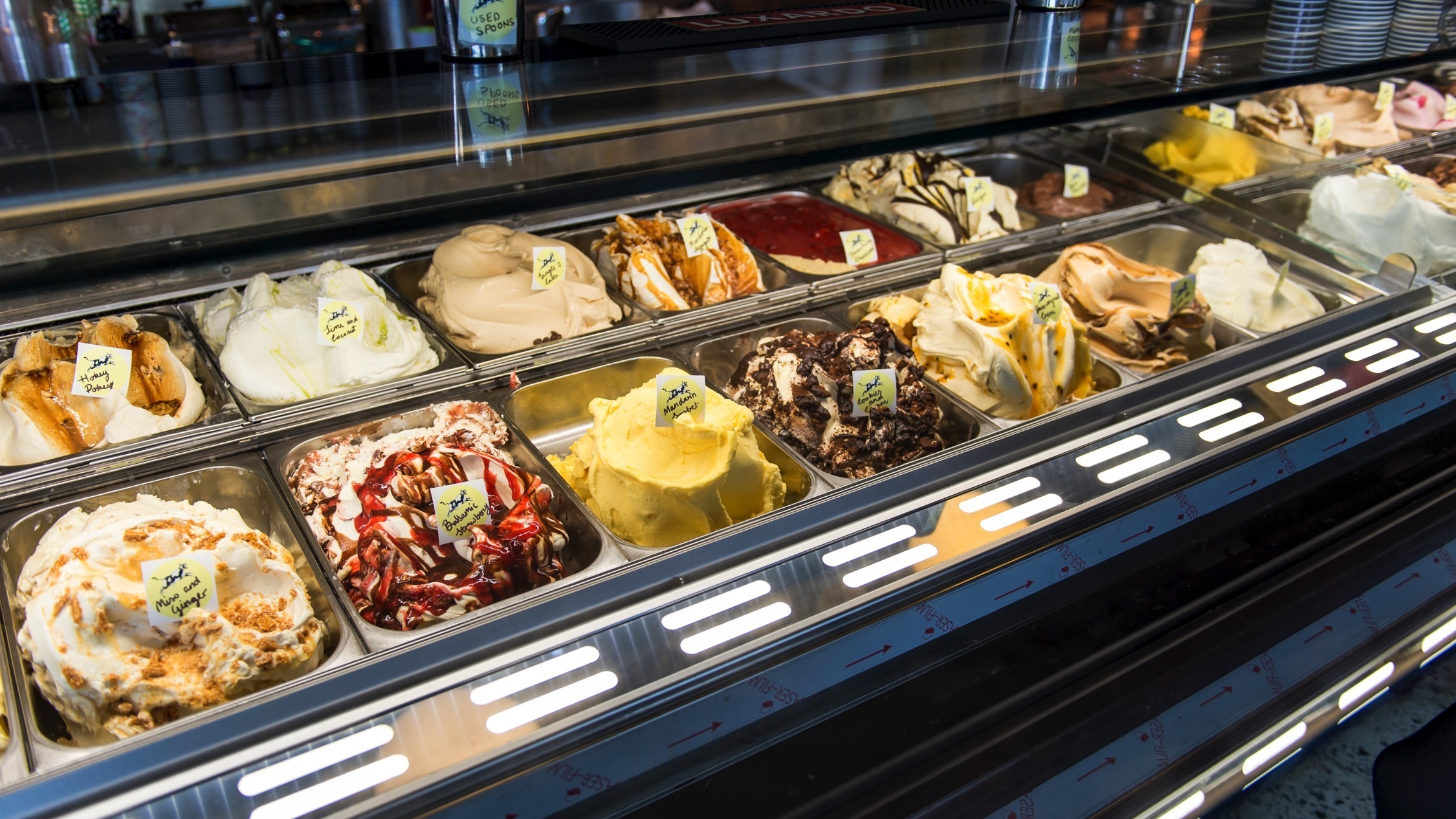 Gelato at Cow and Moon Enmore