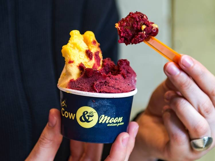 Cool down with scoop of gelato at Cow and the Moon