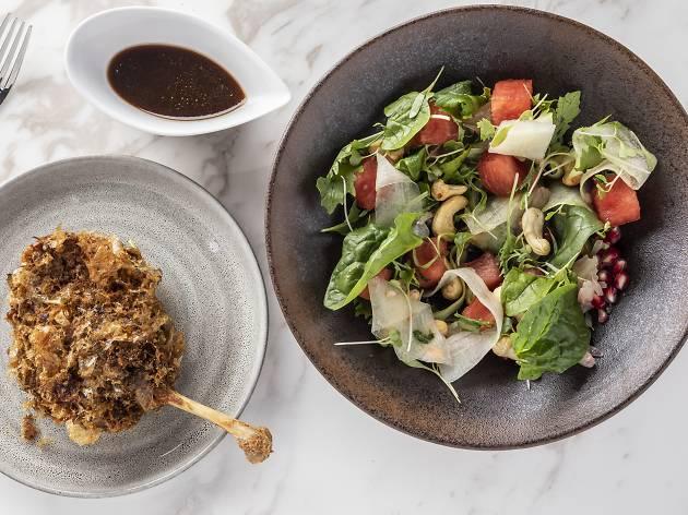 Maze Grill - Confit Duck Watermelon Salad