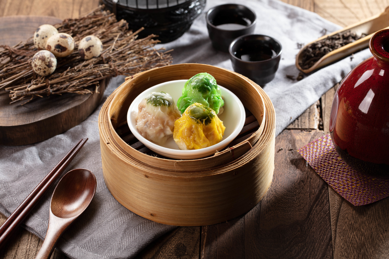 DNA_steamed siu mai pork dumplings with quail egg