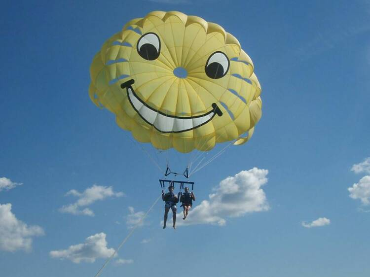 Try windsurfing, paragliding or parasailing