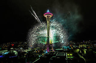 New Year's Eve Space Needle Fireworks