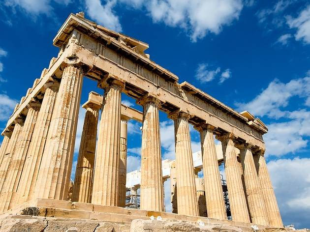 Iconic Parthenon Sky Greece Ruins Palace Building