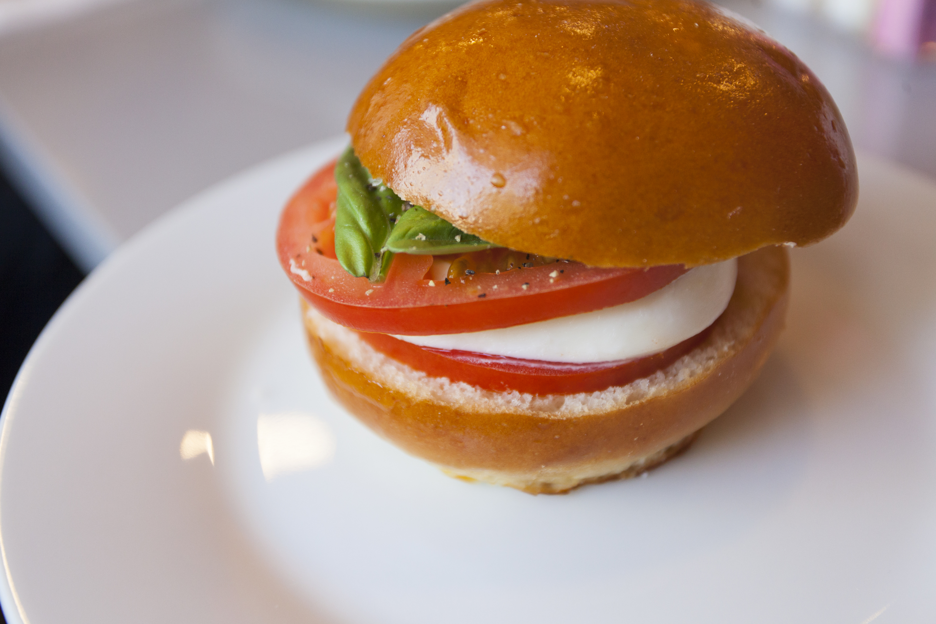 Edo Little Bites caprese sandwich in Pacific Palisades Village
