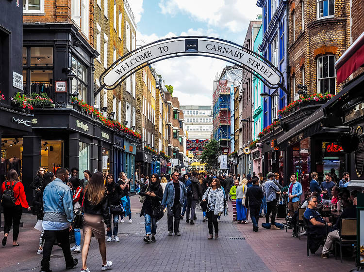 Browse cool brands on Carnaby Street