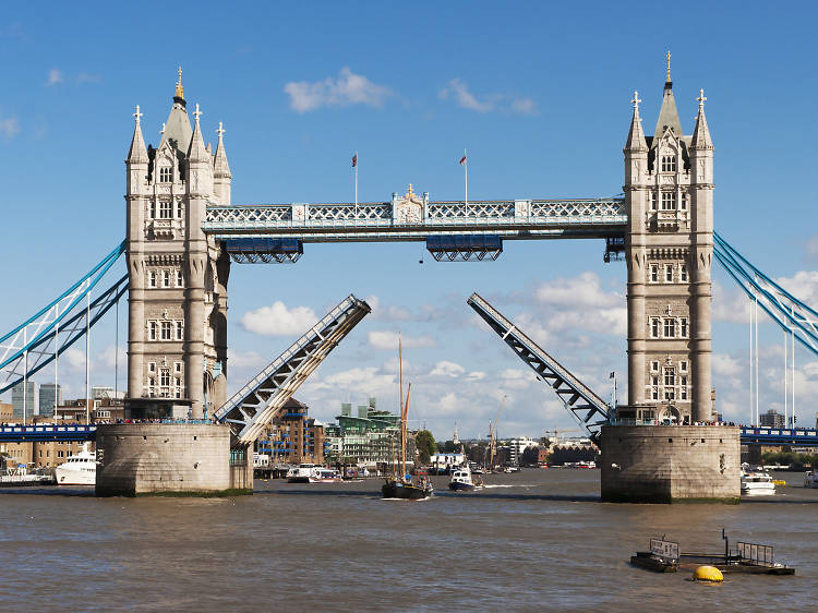 See Tower Bridge lift up