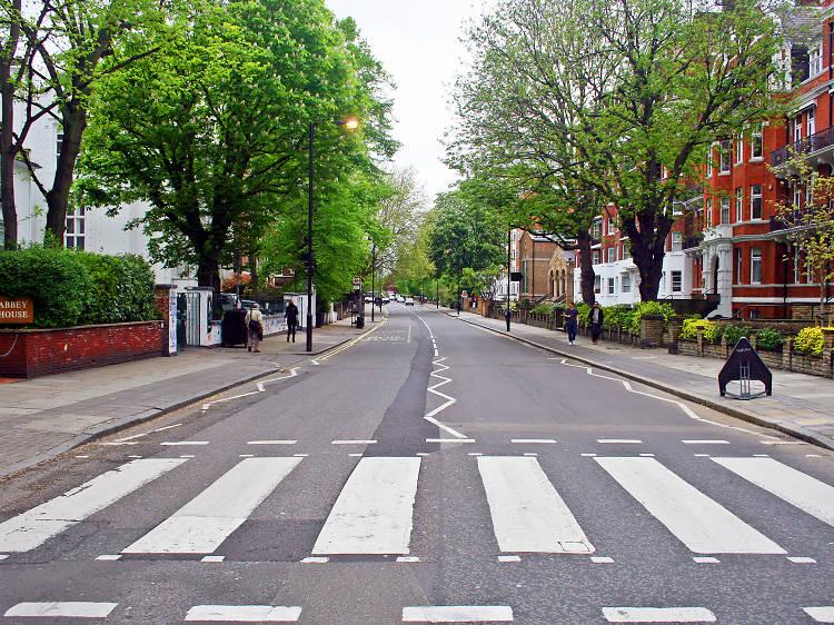 Pose outside Abbey Road Studios