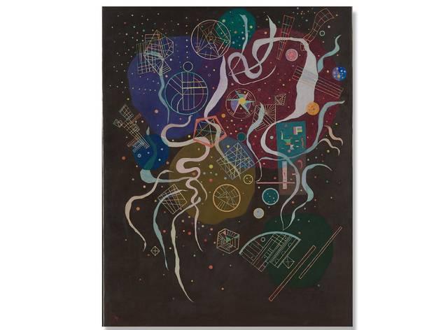 (Movement I: Wassily Vasilyevich Kandinsky. © The State Tretyakov Gallery D.R. © Wassily Kandinsky/ADAGP/SOMAAP/México/2018. Foto: Cortesía Museo del Palacio de Bellas Artes)