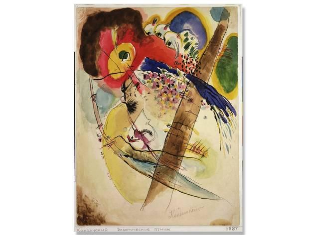 (Exotic Birds: Wassily Vasilyevich Kandinsky (1866 - 1944). D.R. © Wassily Kandinsky/ADAGP/SOMAAP/México/2018. Foto: Cortesía Museo del Palacio de Bellas Artes)