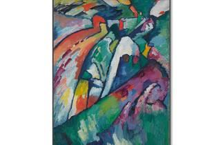 (Improvisación 7: Wassily Vasilyevich Kandinsky. © The State Tretyakov Gallery D.R. © Wassily Kandinsky/ADAGP/SOMAAP/México/2018. Foto: Cortesía Museo del Palacio de Bellas Artes)