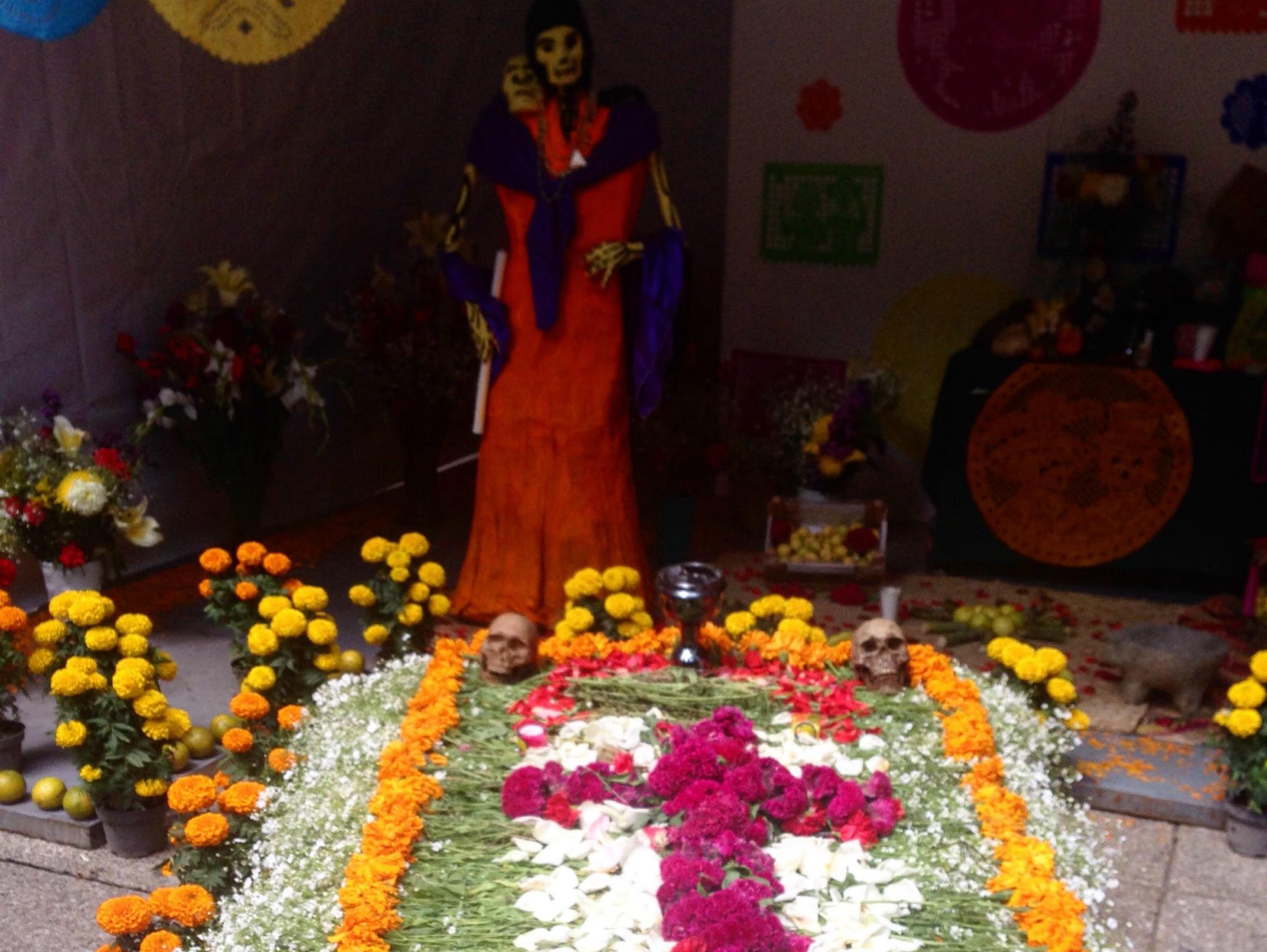 Altar de muertos en el Festival de Cempasúchil