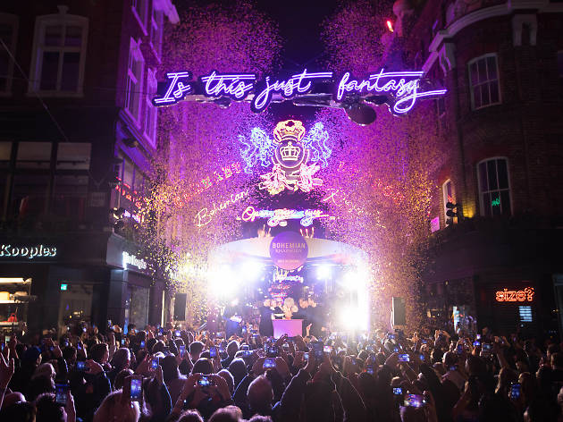 Carnaby Street's Queen-themed Christmas lights have been unveiled