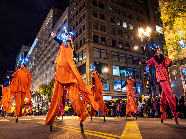 arts in the dark 2018, halloween parade
