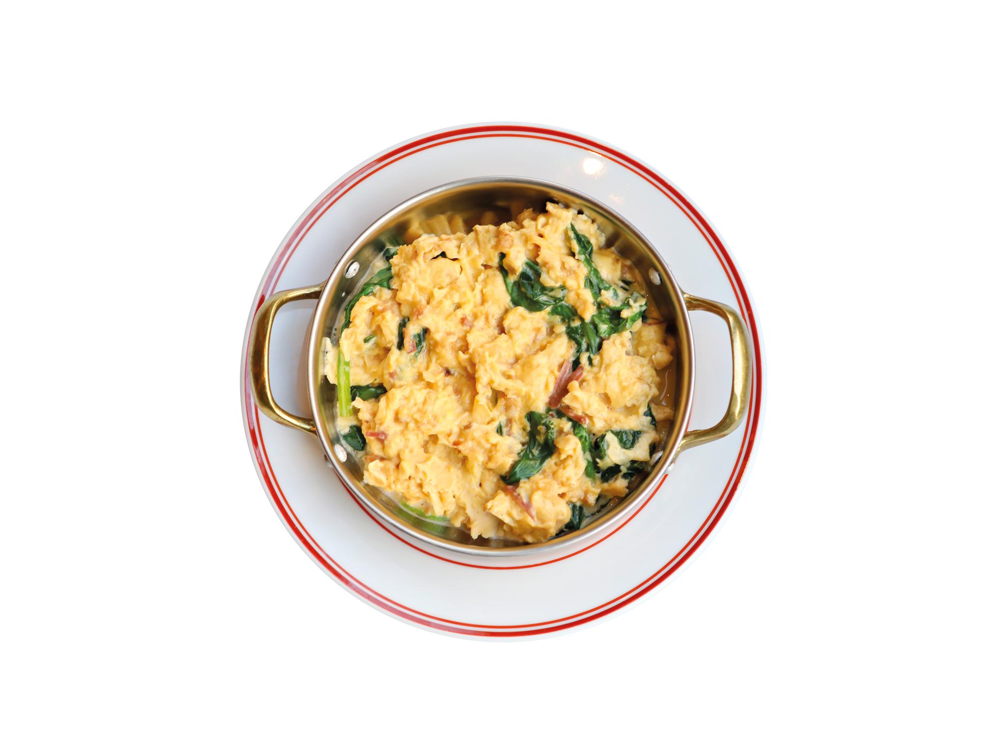 Tapisco - Ovos mexidos com alheira