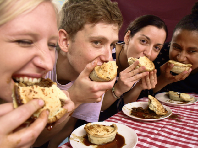 Young Vegans Chilli Pie Eating Contest