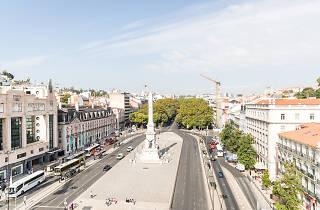 Vista dos Restauradores do restaurante do Altis Avenida Hotel