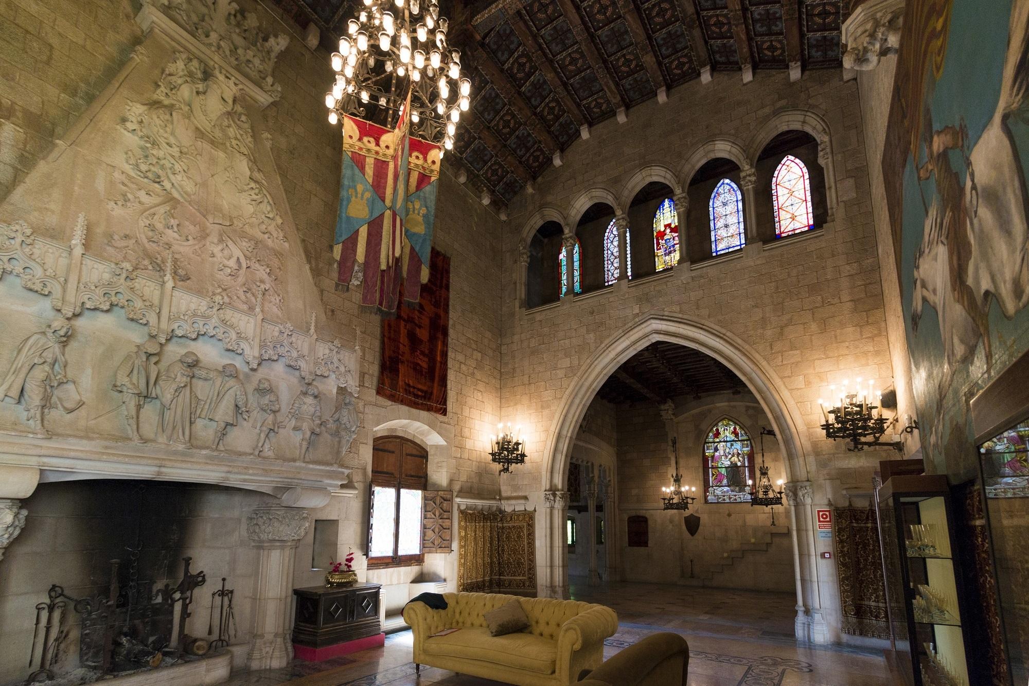 Castell de Santa Florentina interior Canet de Mar