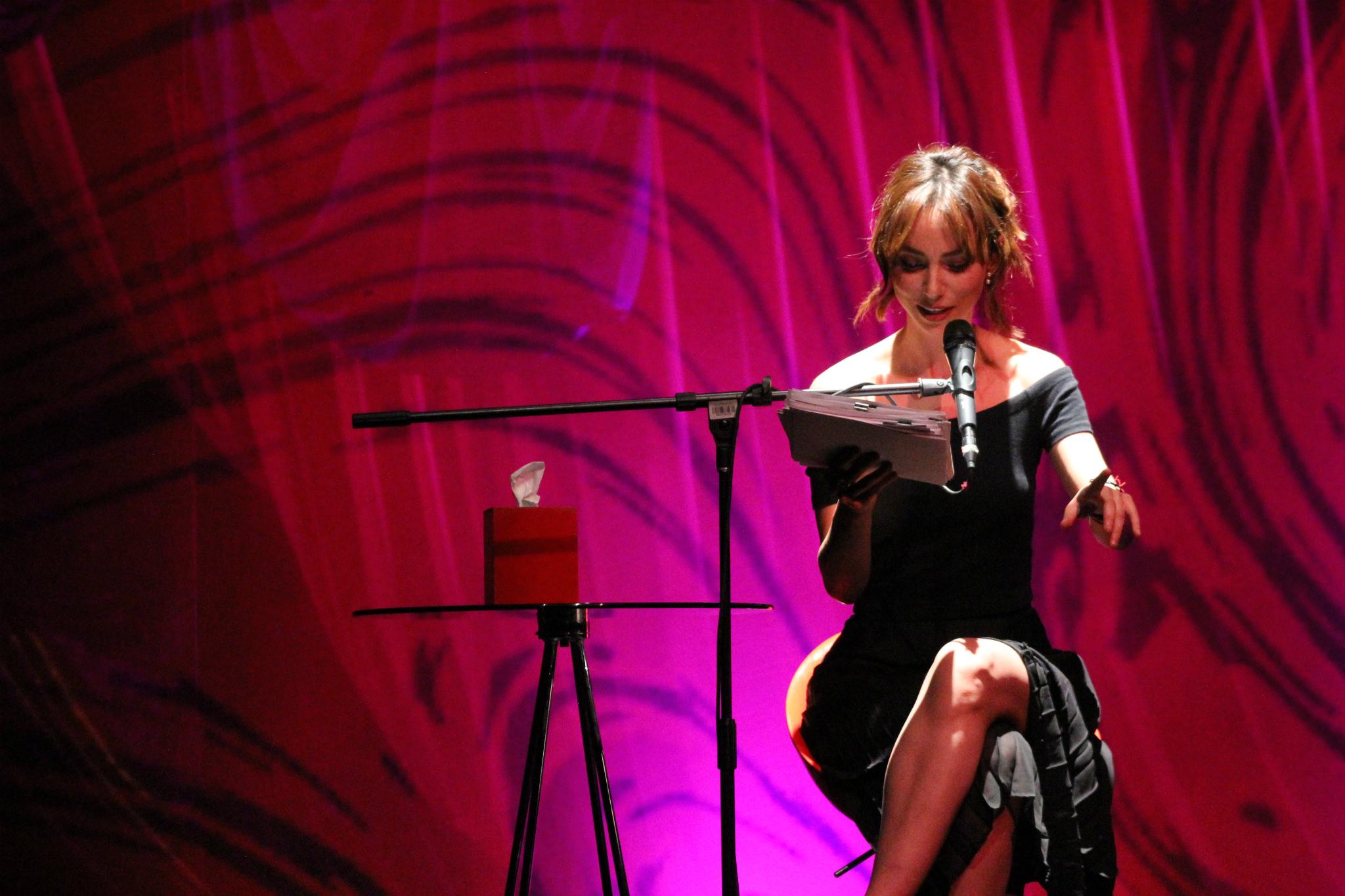 Natalia Téllez en Los monólogos de la vagina