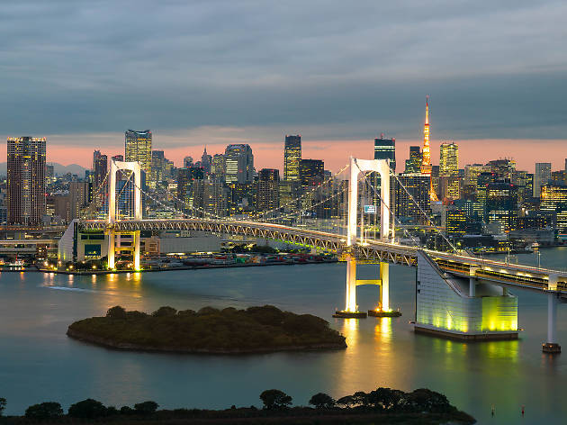 Tokyo skyline - rainbow bridge