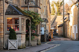Cotswolds town in winter