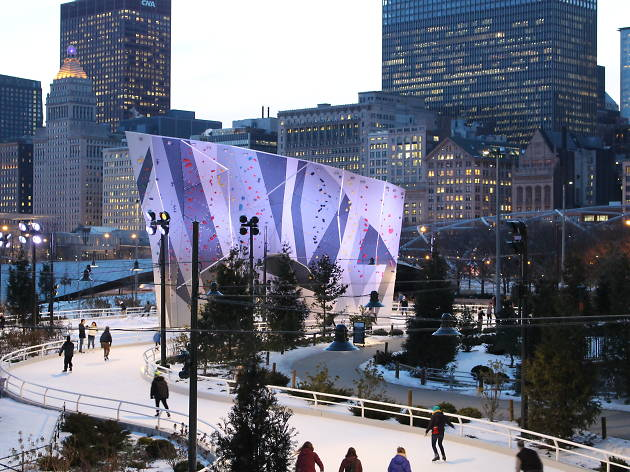 The whimsical Ice Skating Ribbon at Maggie Daley Park opens today