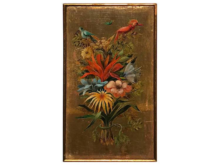 Ramo floral con pájaros (1960)