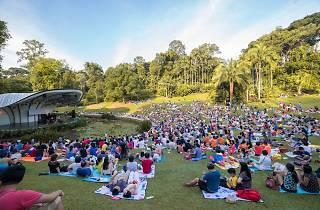 shaw foundation, singapore botanic gardens, concert in the park