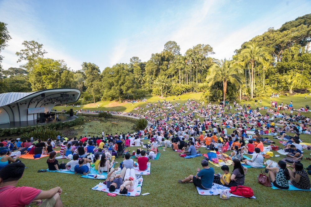 shaw foundation, singapore botanic gardens, concert in the park