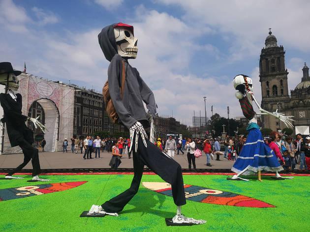 Ofrenda monumental de Día de Muertos en el Zócalo 2018