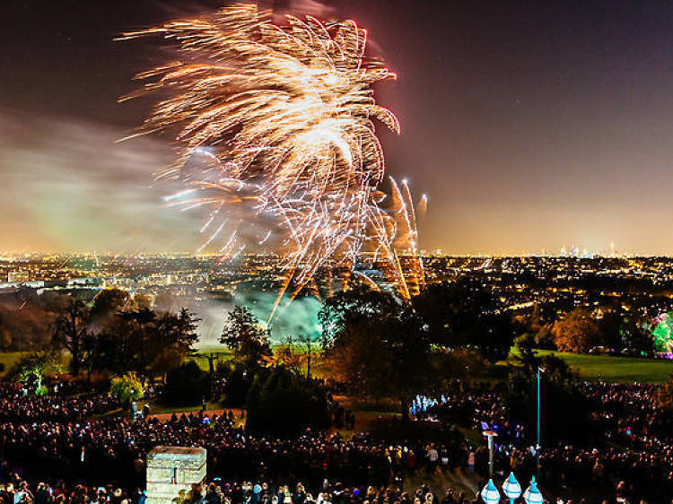 Watch the fireworks at Ally Pally