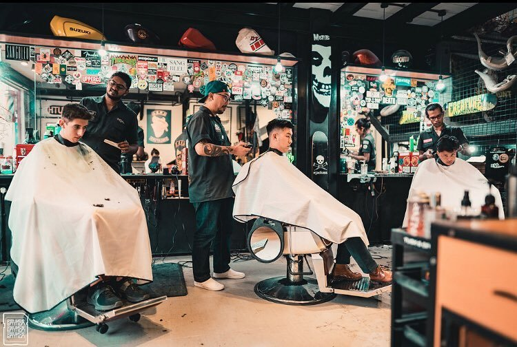 Grease Monkey Barber Garage