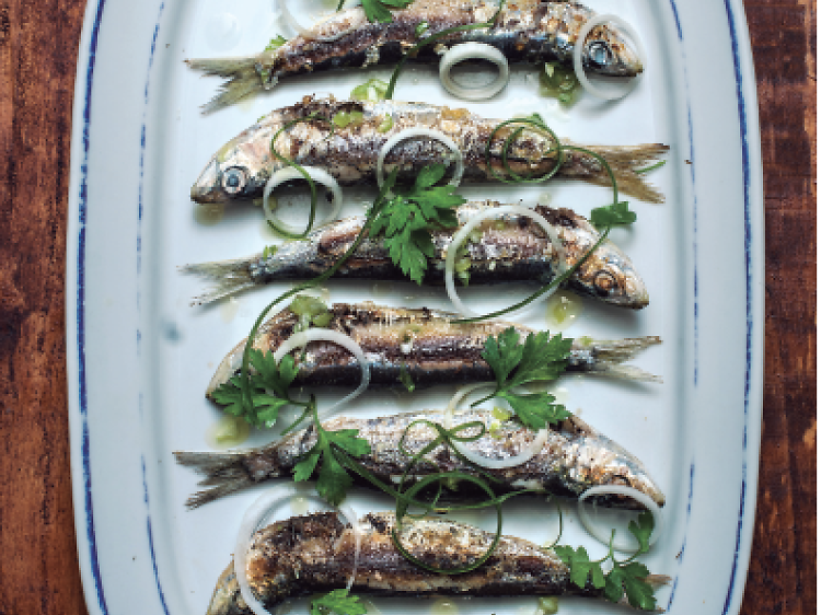 Unas sardinas en Can Sardi