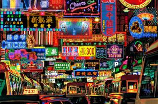Mong Kok Street Neon Fantasy, Keith Macgregor