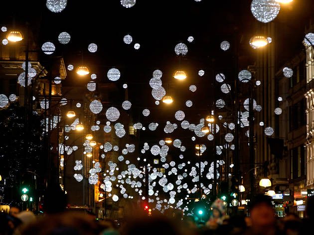 the world famous oxford street christmas lights switch on event takes place at john lewis