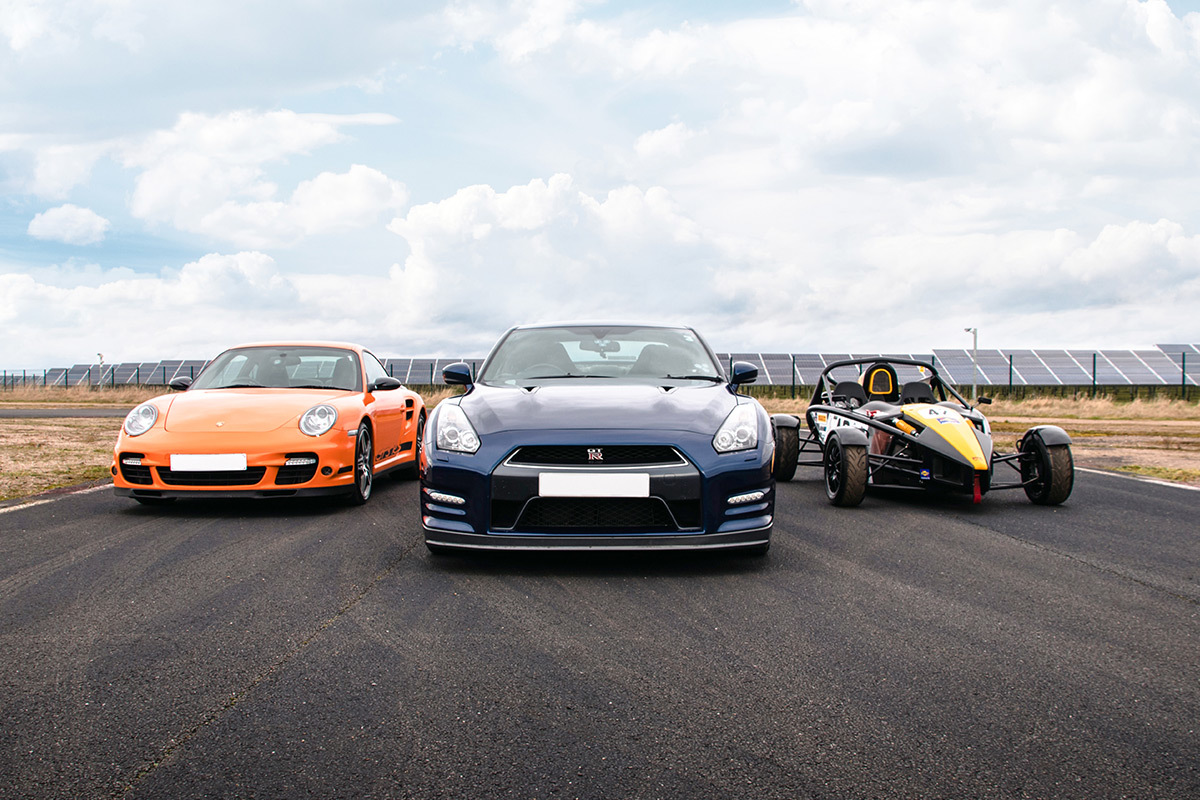 A supercar drive plus a high-speed passenger ride
