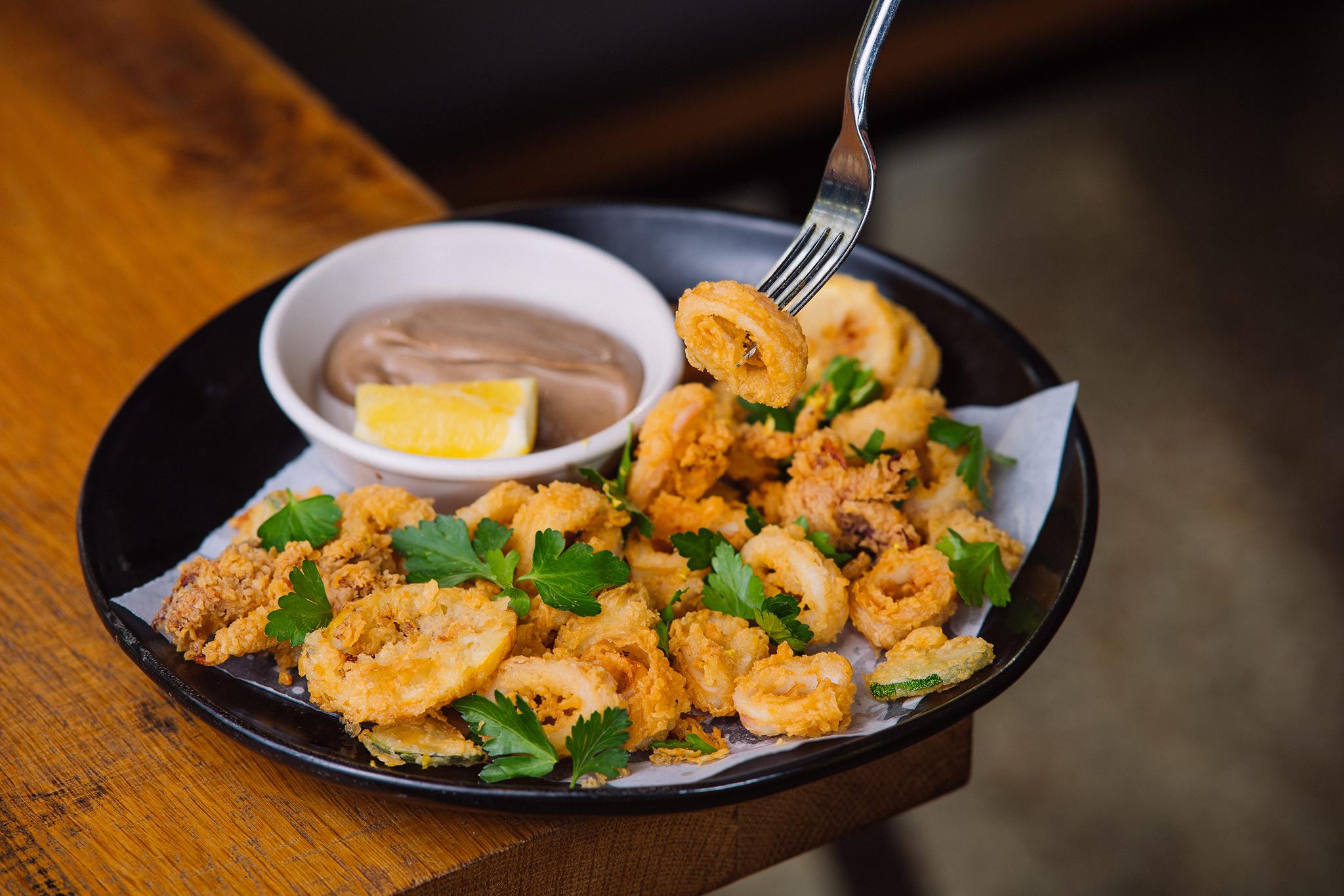 Glass & Vine fried squid