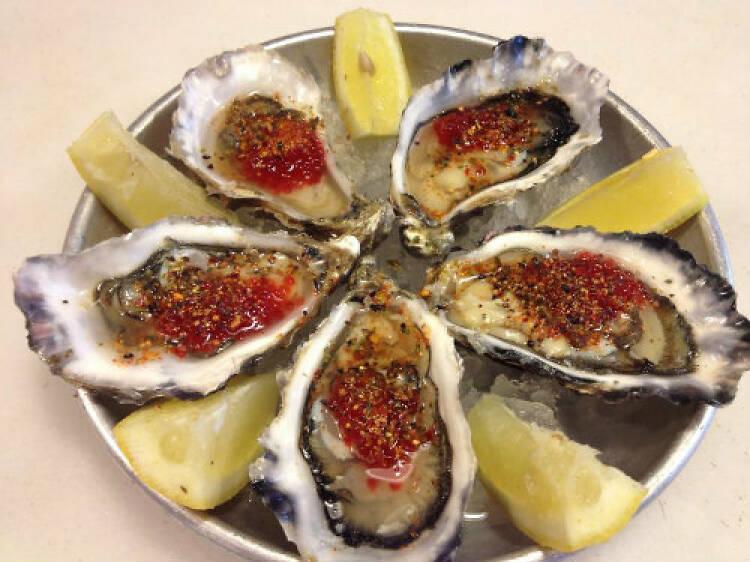 Las ostras de El Puertito