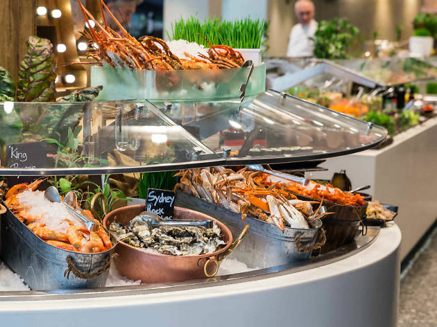 Seafood buffet at Feast Sheraton Grand