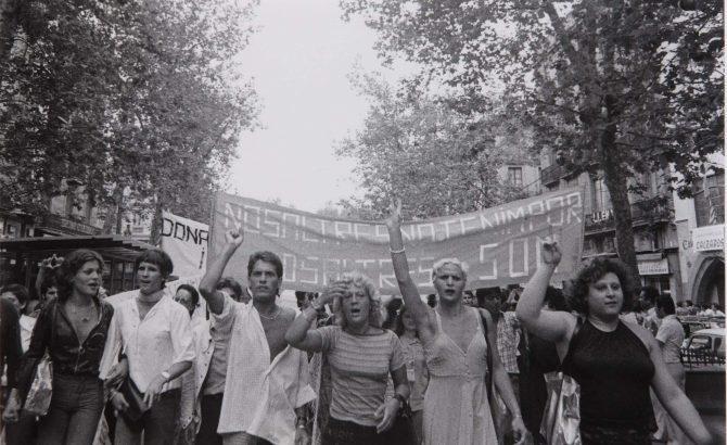 Manifestació la rambla