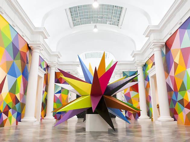 Okuda San Miguel, 2018, Sculpture Installation SCOPE Miami Beach