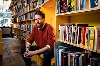 Bookseller Paddy Butler at Libreria